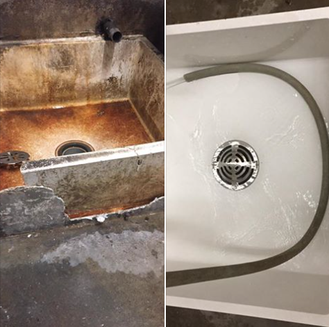 Replace wash tub